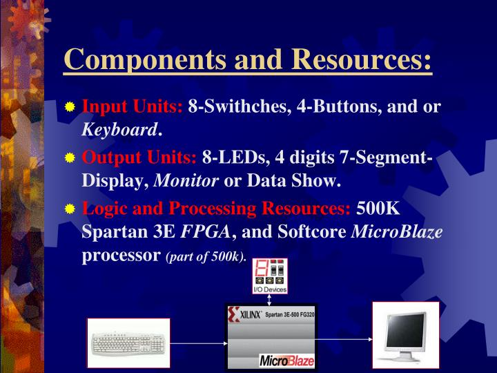 Components and Resources: