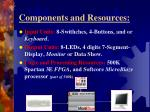 components and resources