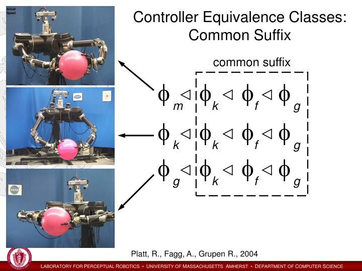 Controller Equivalence Classes: Common Suffix
