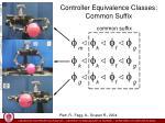controller equivalence classes common suffix