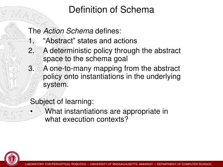 Definition of Schema