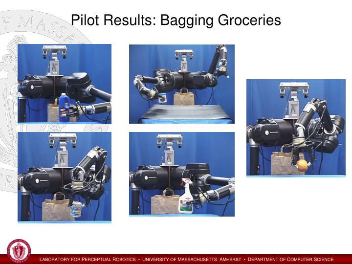 Pilot Results: Bagging Groceries