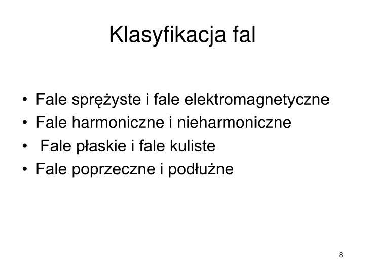 Klasyfikacja fal
