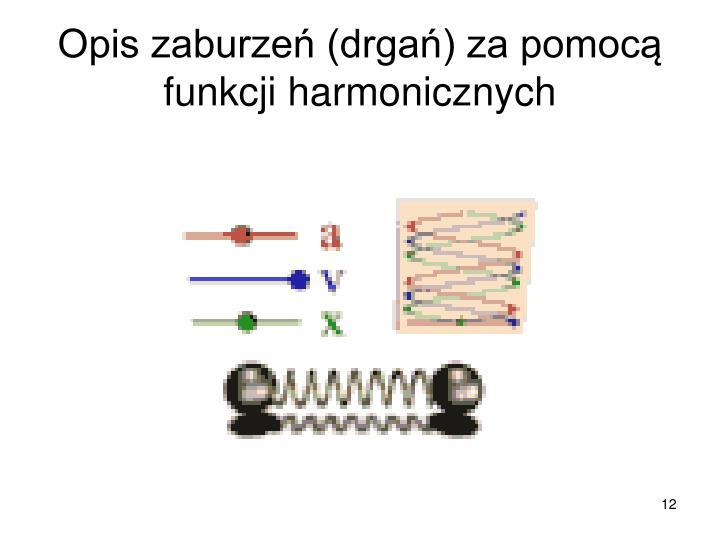 Opis zaburzeń (drgań) za pomocą funkcji harmonicznych