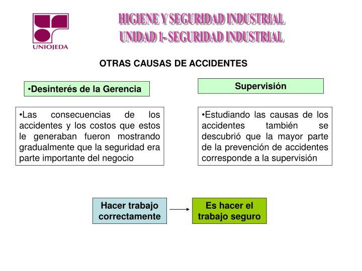 OTRAS CAUSAS DE ACCIDENTES