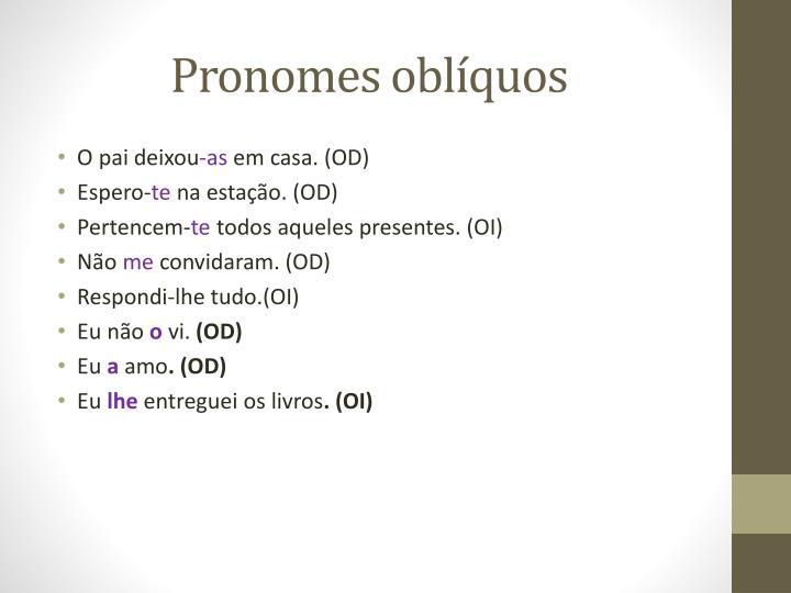 Pronomes oblíquos