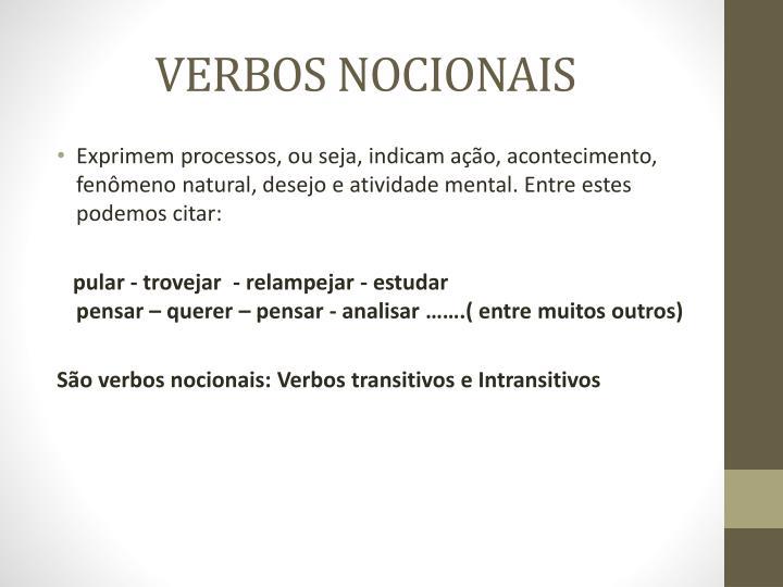 VERBOS NOCIONAIS