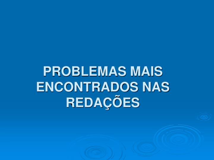 PROBLEMAS MAIS