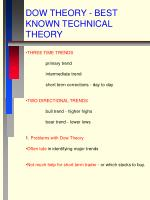 dow theory best known technical theory