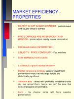 market efficiency properties