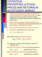 statistical properties of stock prices and returns in an efficient market
