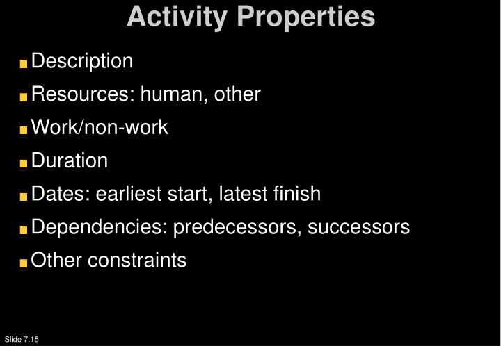 Activity Properties