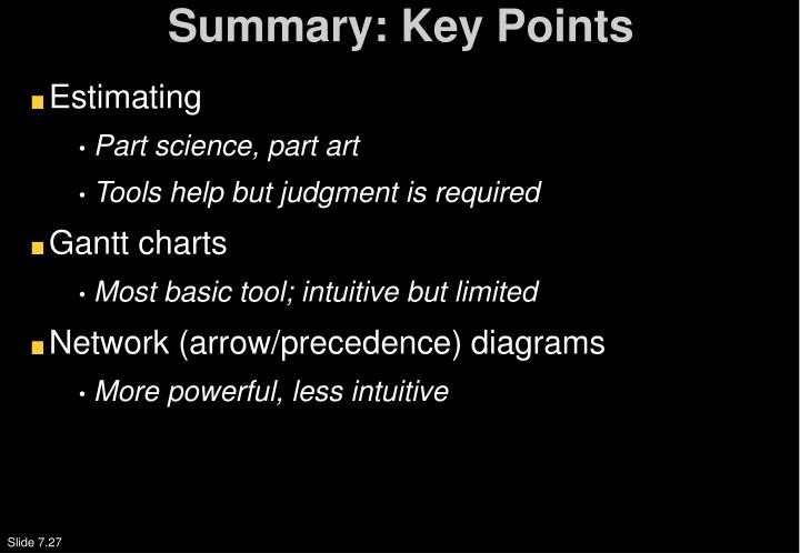Summary: Key Points
