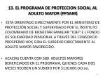 13 el programa de proteccion social al adulto mayor ppsam