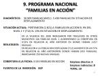 9 programa nacional familias en acci n