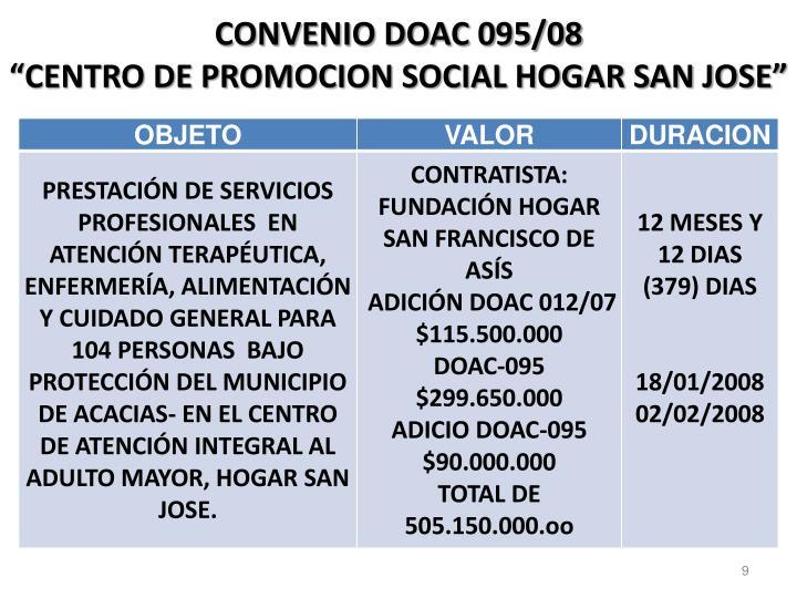 CONVENIO DOAC 095/08