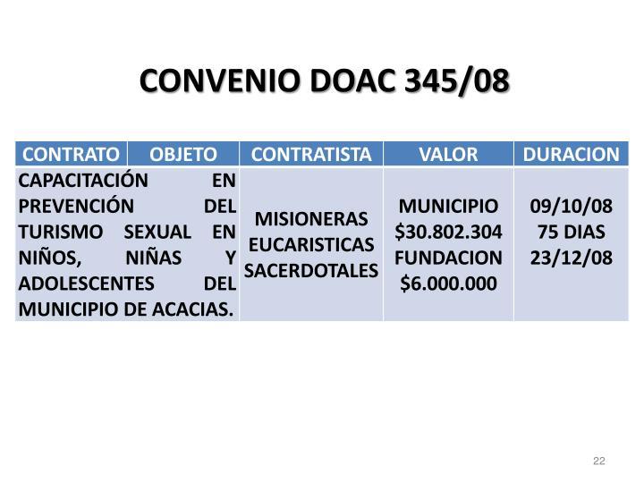 CONVENIO DOAC 345/08