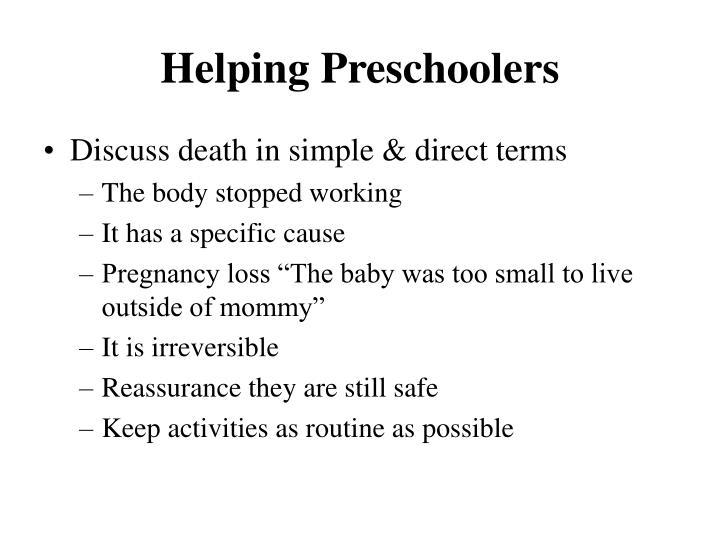 Helping Preschoolers