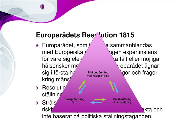 Europarådets Resolution 1815
