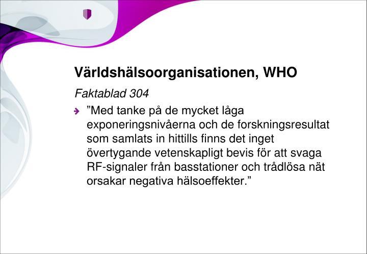 Världshälsoorganisationen, WHO