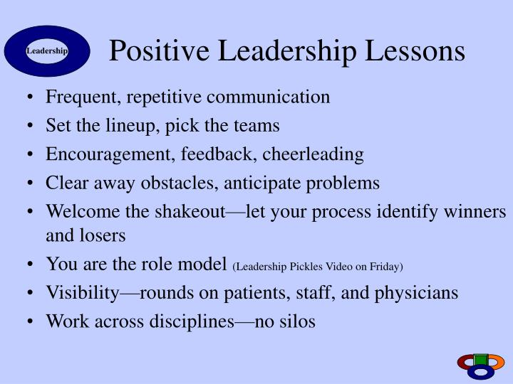 Positive Leadership Lessons