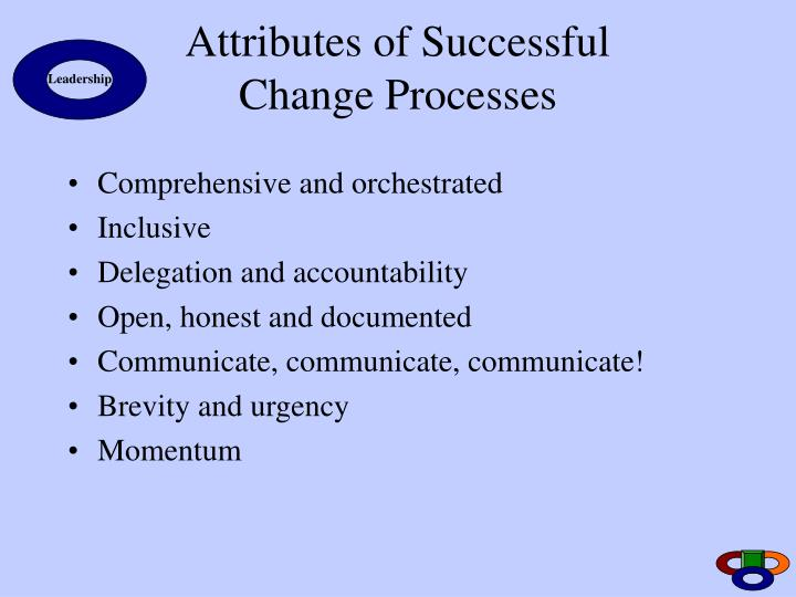 Attributes of Successful