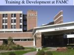 training development at famc