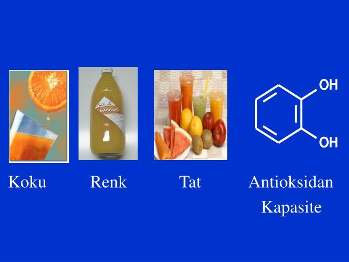 Koku          Renk            Tat           Antioksidan
