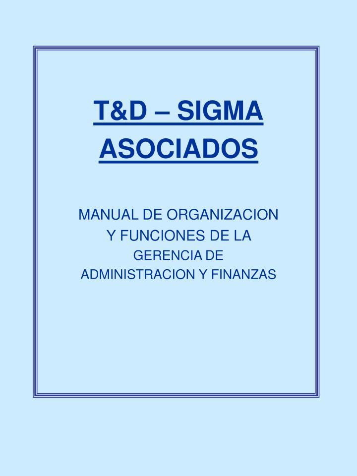 T&D – SIGMA