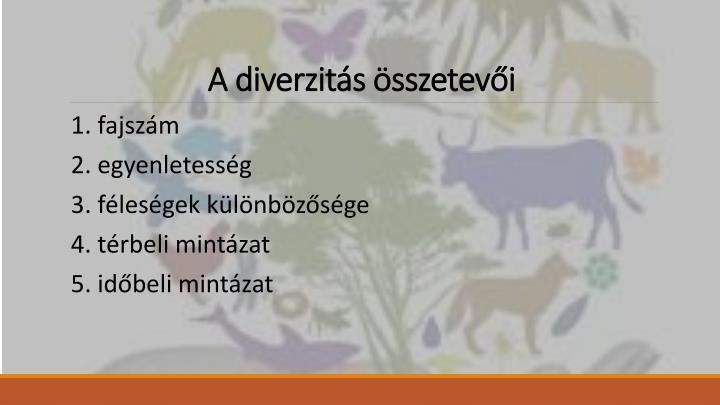 A diverzitás összetevői