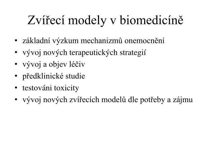 Zvířecí modely v biomedicíně