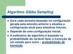 algoritmo gibbs sampling