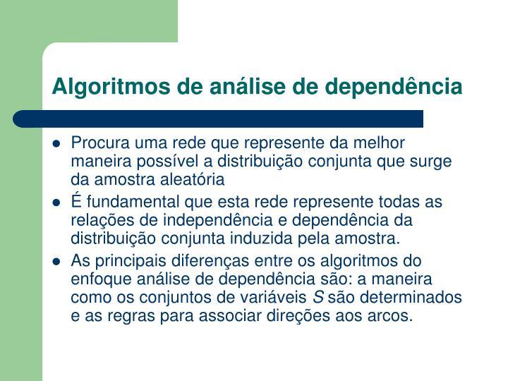 Algoritmos de análise de dependência