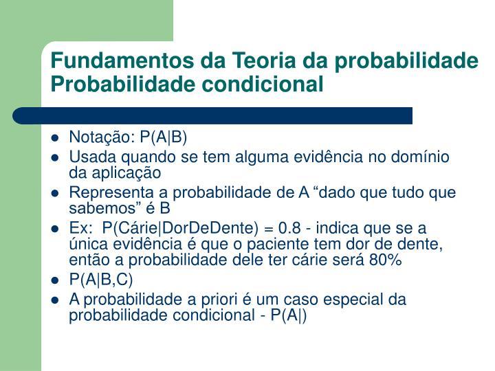 Fundamentos da Teoria da probabilidade
