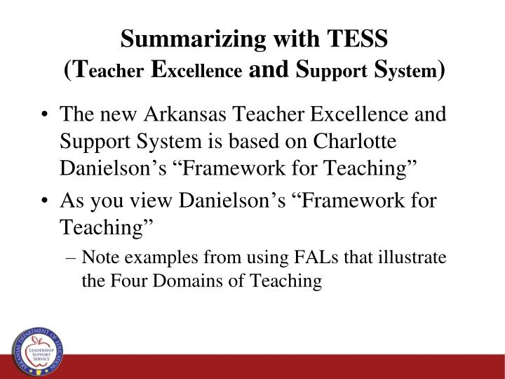 Summarizing with TESS