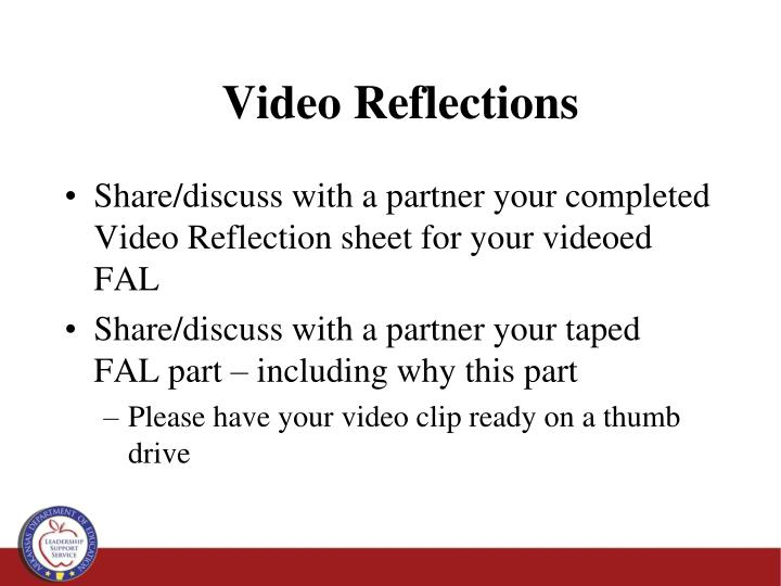 Video Reflections