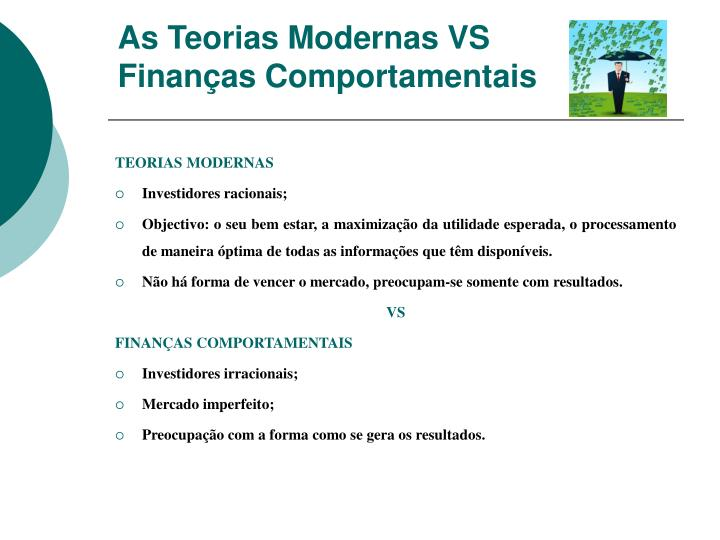 As Teorias Modernas VS