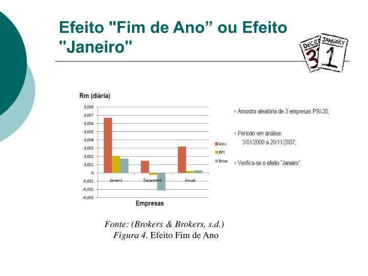 """Efeito """"Fim de Ano"""" ou Efeito """"Janeiro"""""""