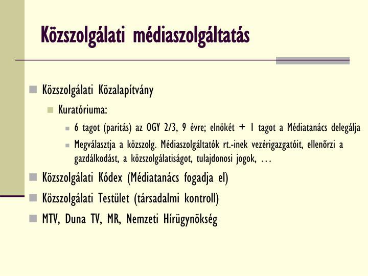 Közszolgálati médiaszolgáltatás
