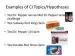 examples of ci topics hypotheses1
