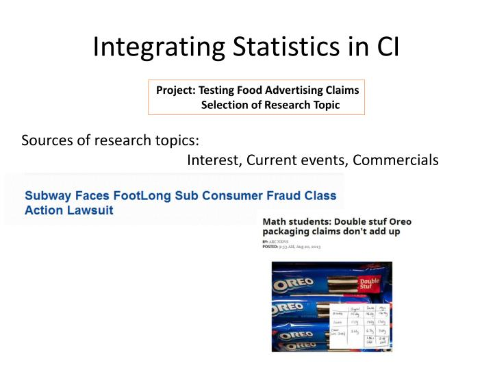 Integrating Statistics in CI