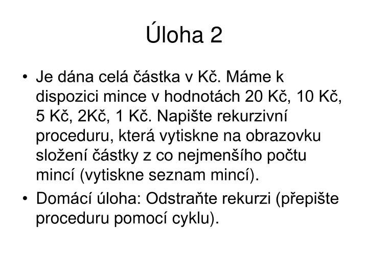 Úloha 2
