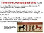 tombs and archeological sites cont1