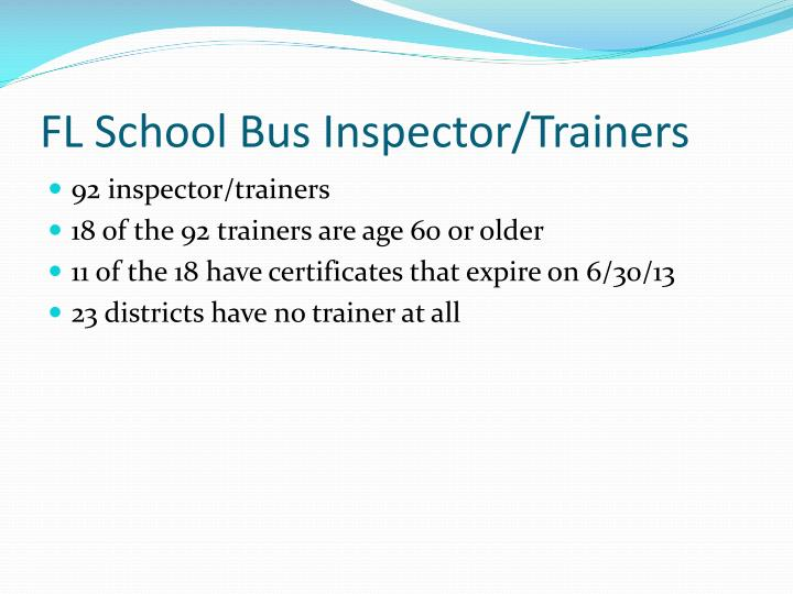 FL School Bus Inspector/Trainers