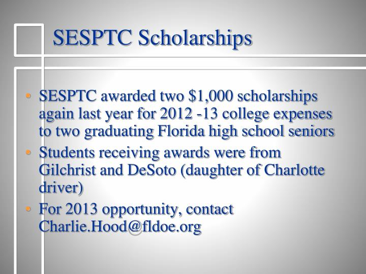 SESPTC Scholarships