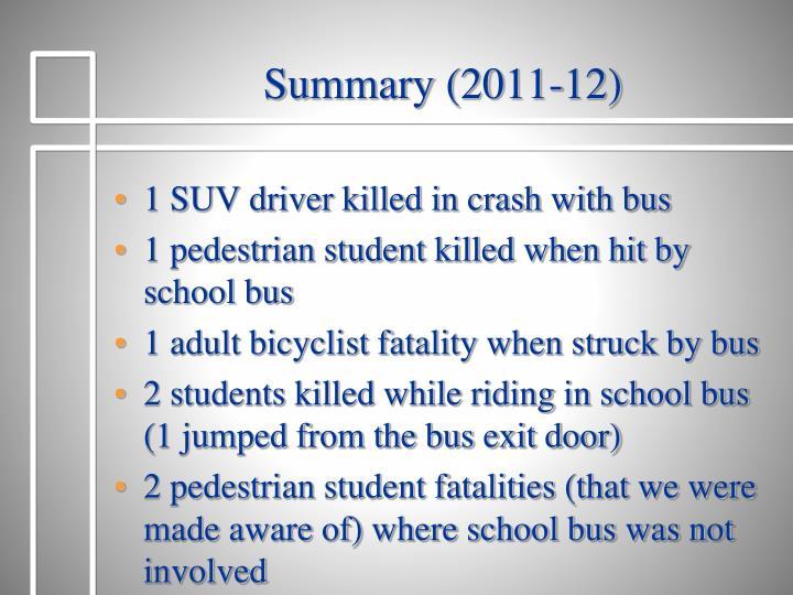 Summary (2011-12)