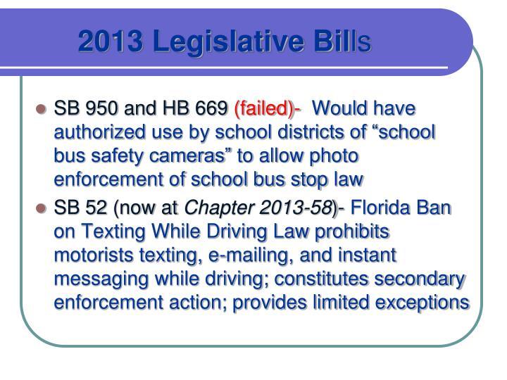 2013 Legislative Bil