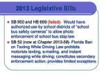 2013 legislative bil ls
