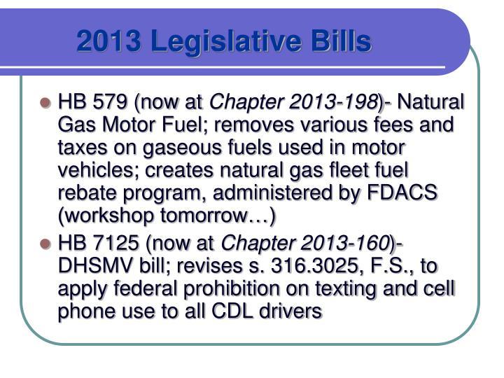 2013 Legislative Bills
