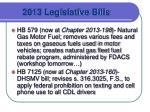 2013 legislative bills1